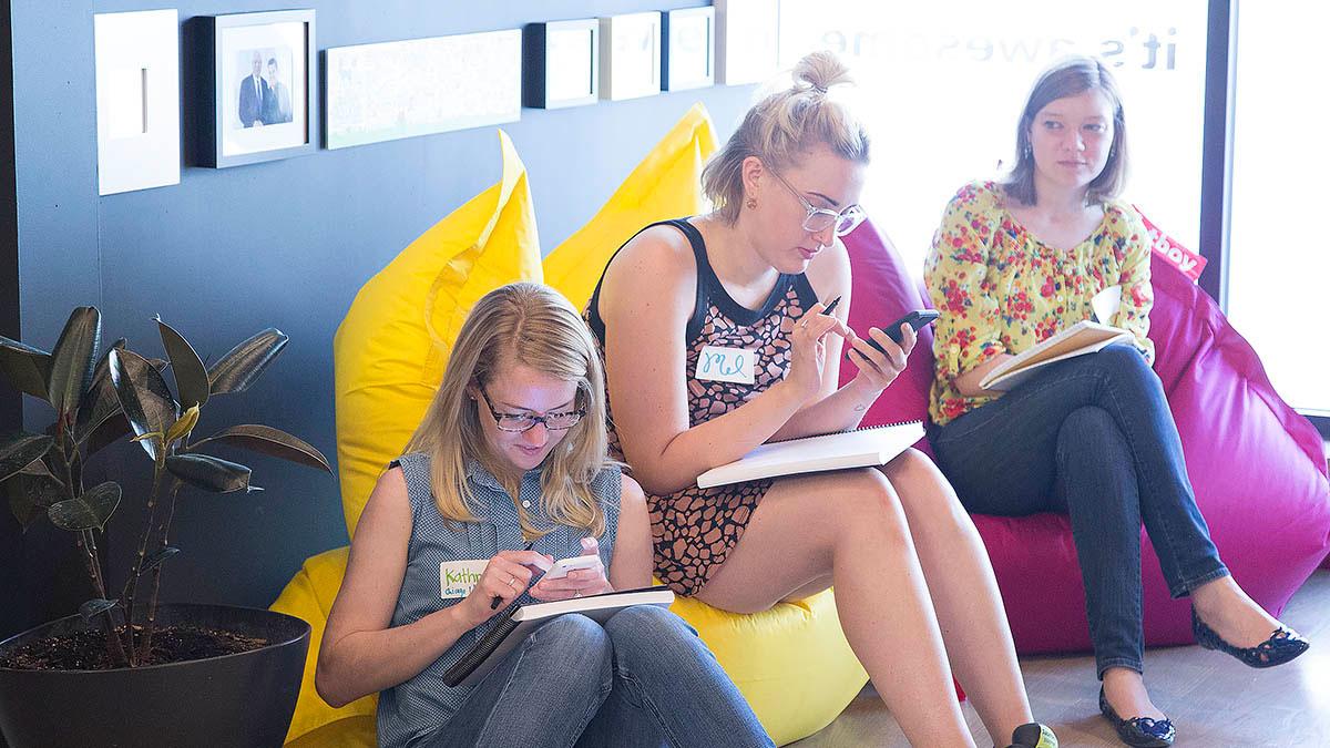 Co-op members draw in their sketchbooks during the workshops