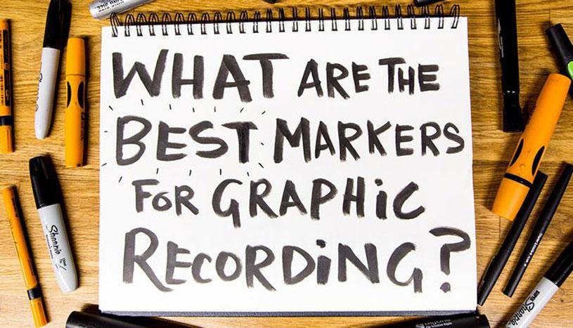 Best Markers title written on sketchbook