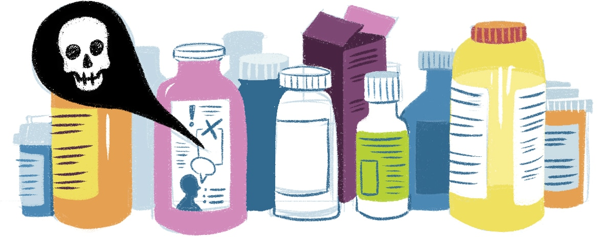 Visuals help people process and understand information, like prescription medication directions