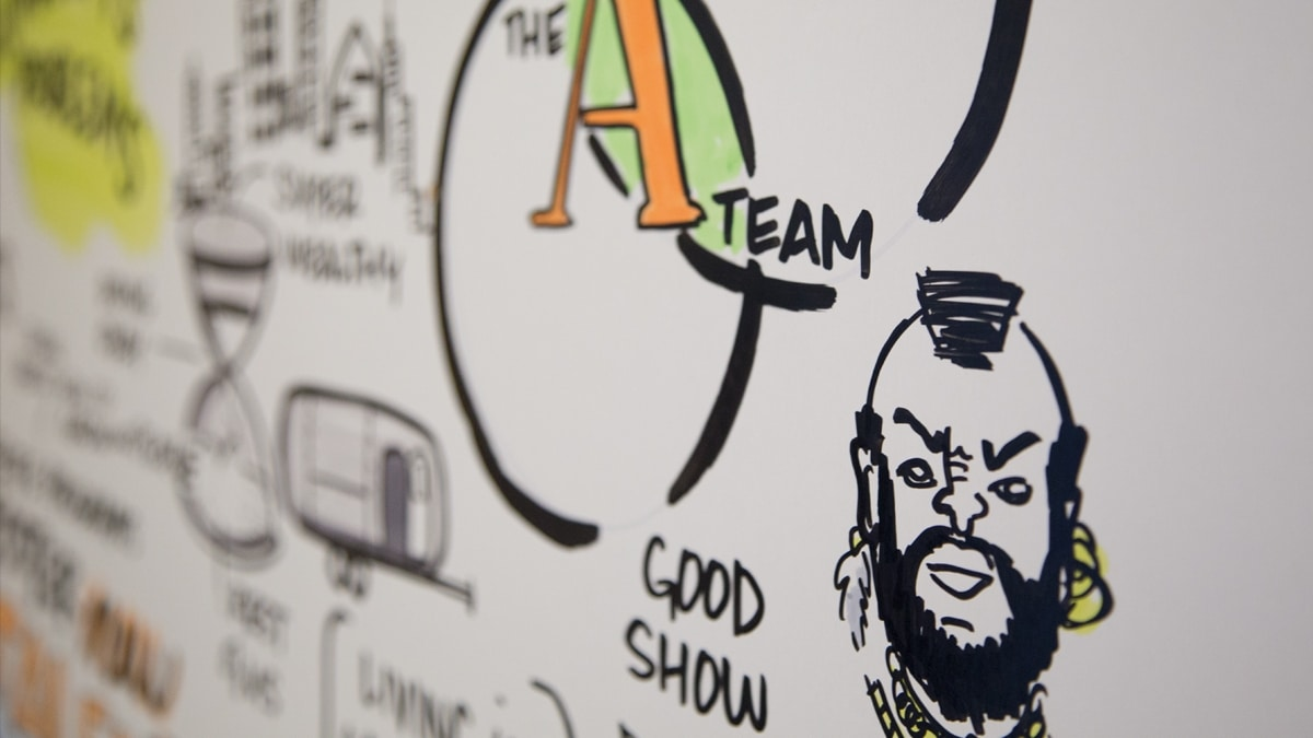 Close up of visual notes created by Ink Factory