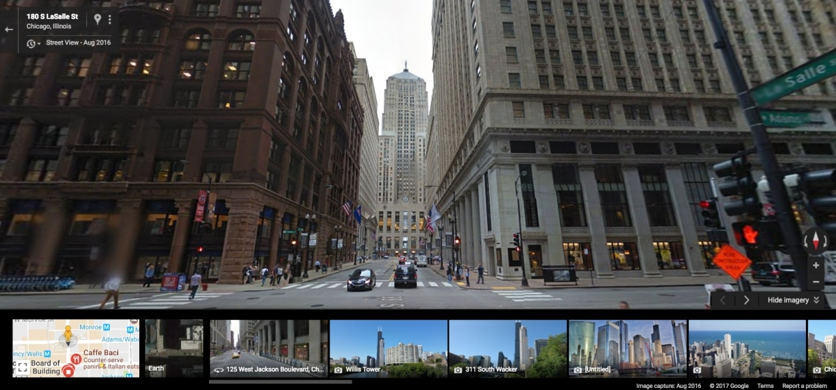 Google Streetview Chicago Board of Trade
