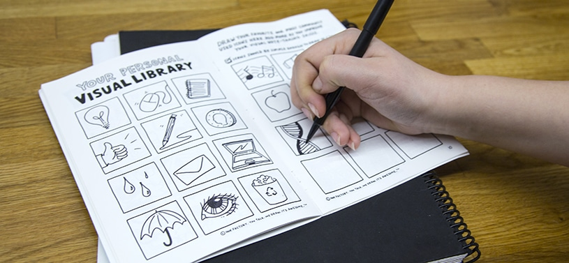 Drawing your personal visual library in your sketchbook