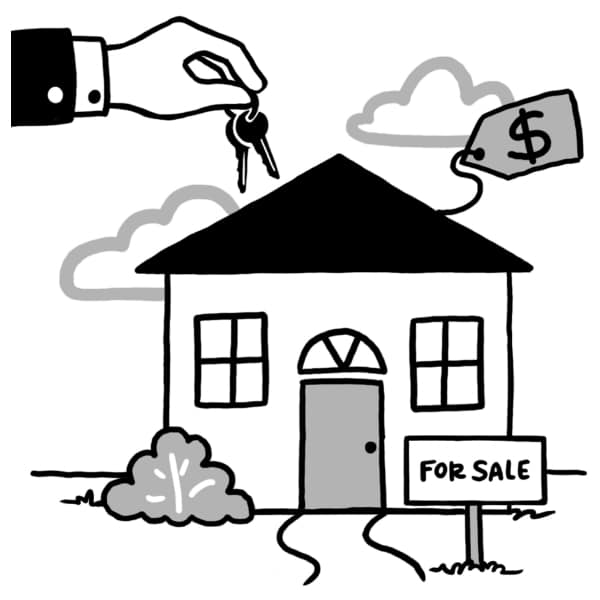 Icon drawings for real estate