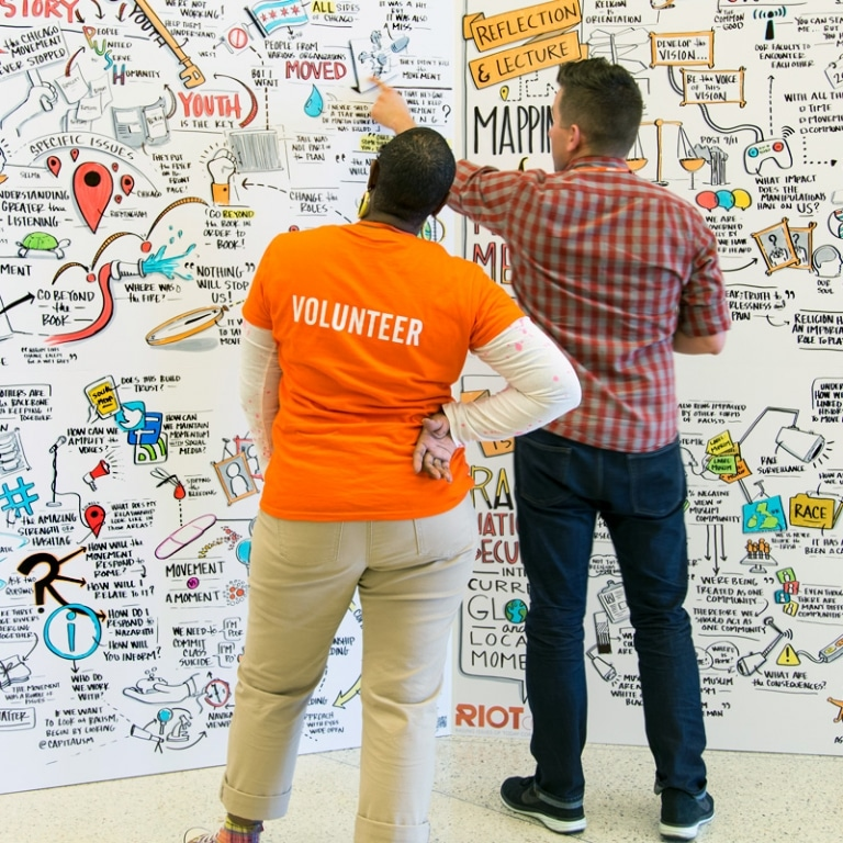 Volunteer and Visual Note Taker Living Wall