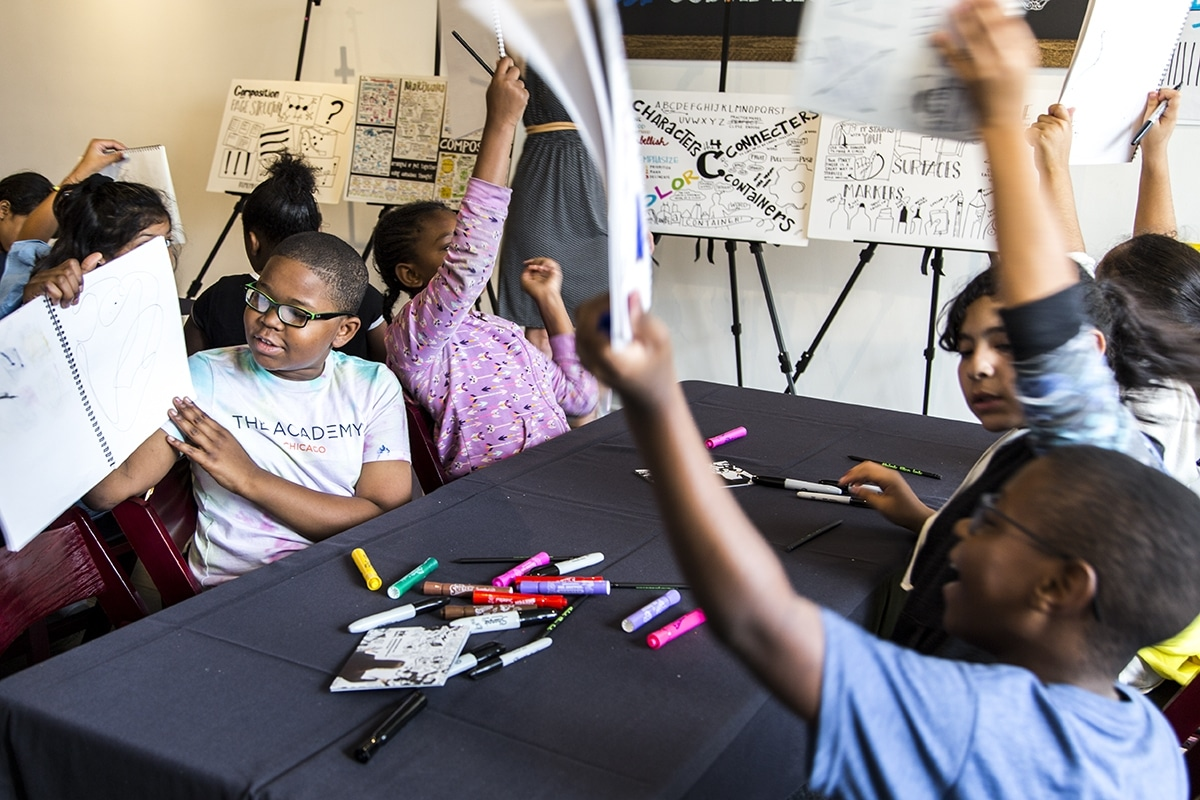 Ink Factory teaches workshops to kids with nonprofits