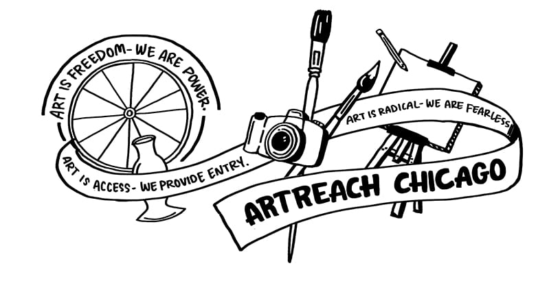 Visual notes of ArtReach Chicago's mission for National Nonprofit day