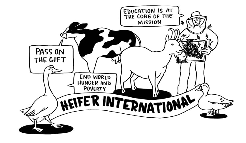 Heifer International was one of our charities chosen for national nonprofit day