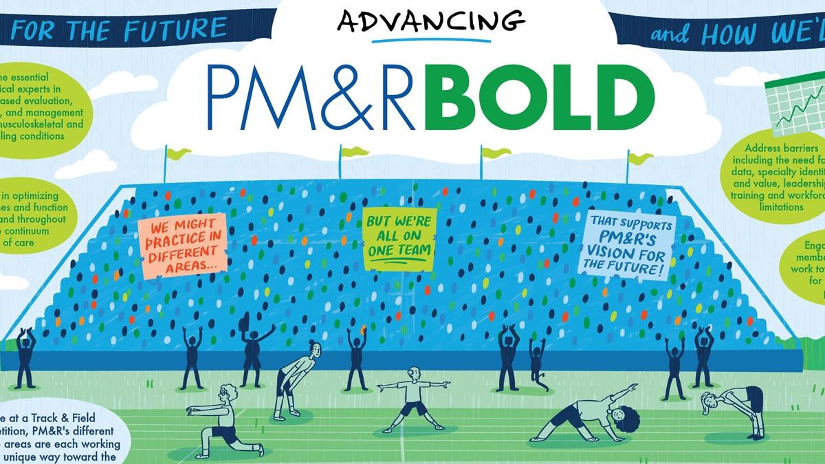 Advancing PM&R BOLD illustration
