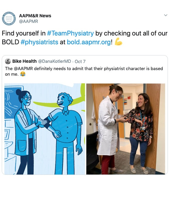 Find yourself in #TeamPhysiatry by checking out all of our BOLD #physiatrists at bold.aapmr.org!
