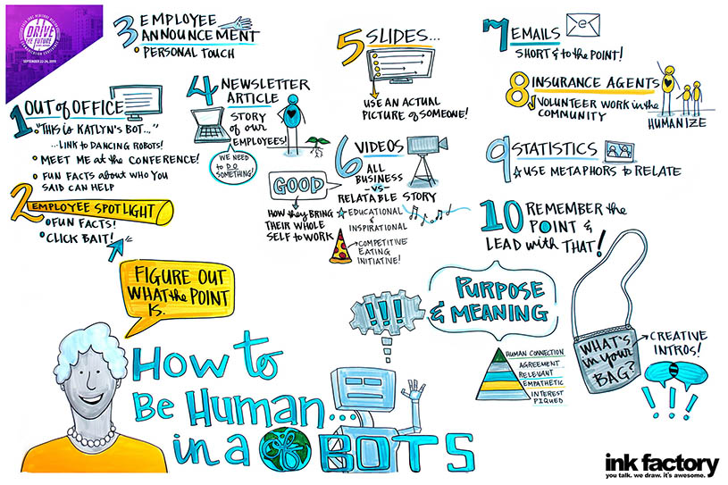 How to humanize communication visual notes