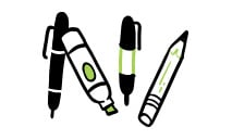 materials for graphic recording