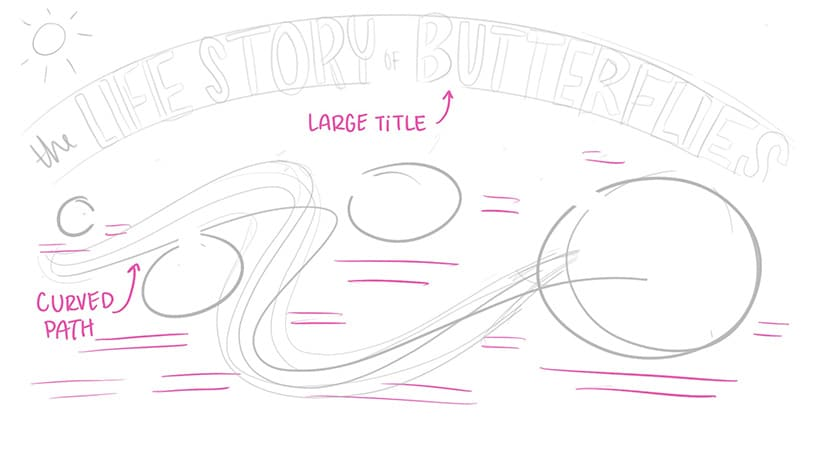 Step two sketch for visual storytelling