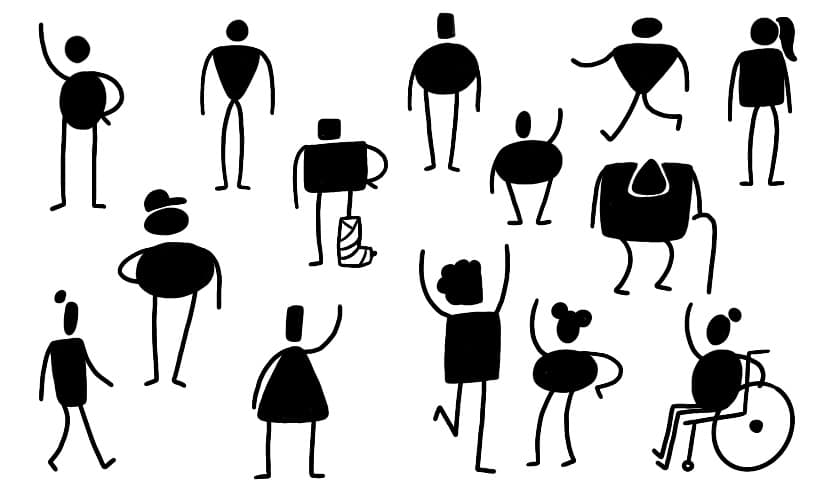 Variety of figures represented