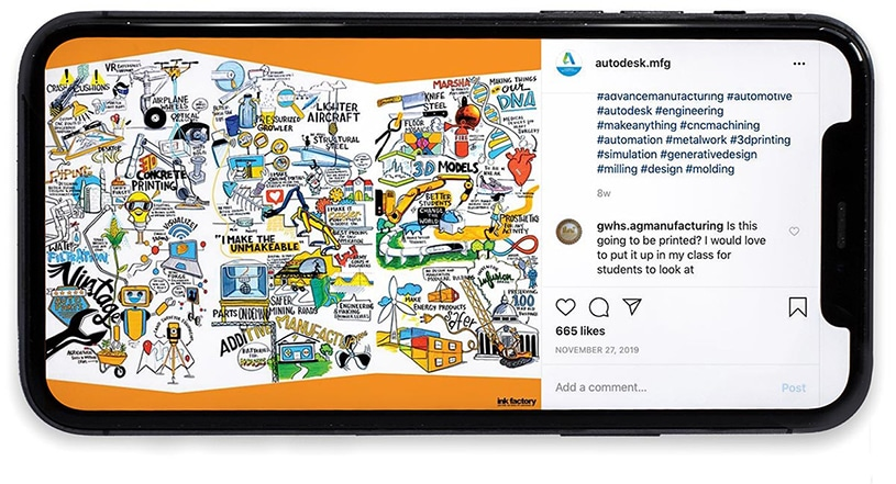 Leveraging visual notes for social media images are a great way to expand event experiences